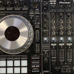 DJ's boom box.